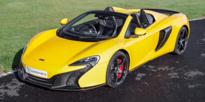 mclaren 650s spider volcano yellow for sale with massive specification