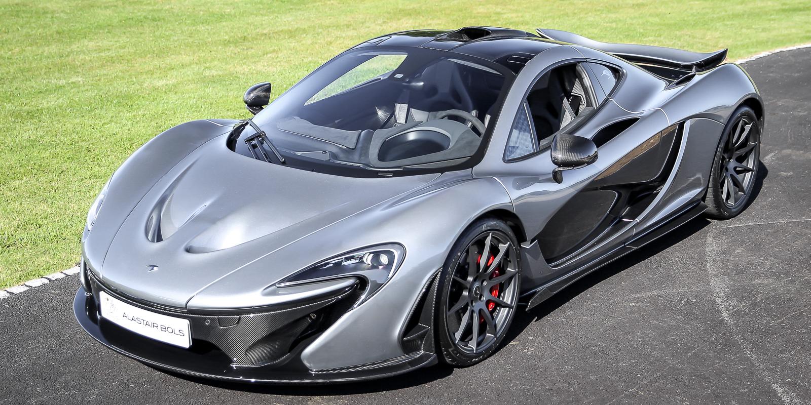 McLaren P1 Titanium Silver
