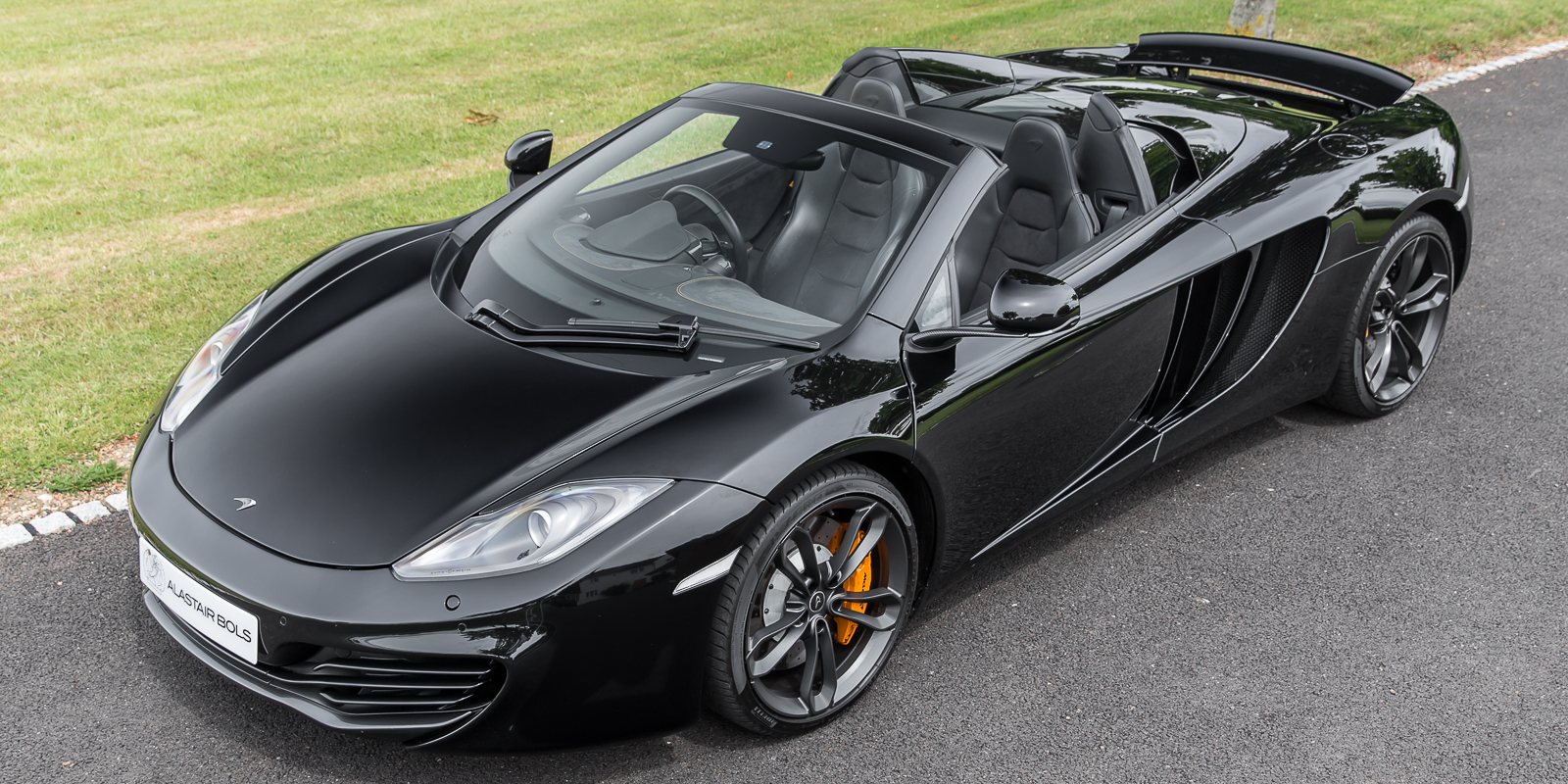 McLaren 12C Spider Black with MSO Interior