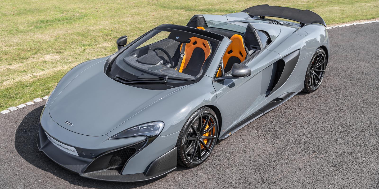 McLaren 675LT Spider in Chicane Grey
