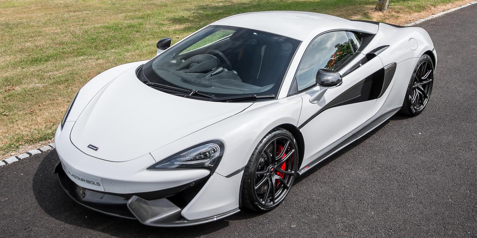 McLaren 570S in Silica White