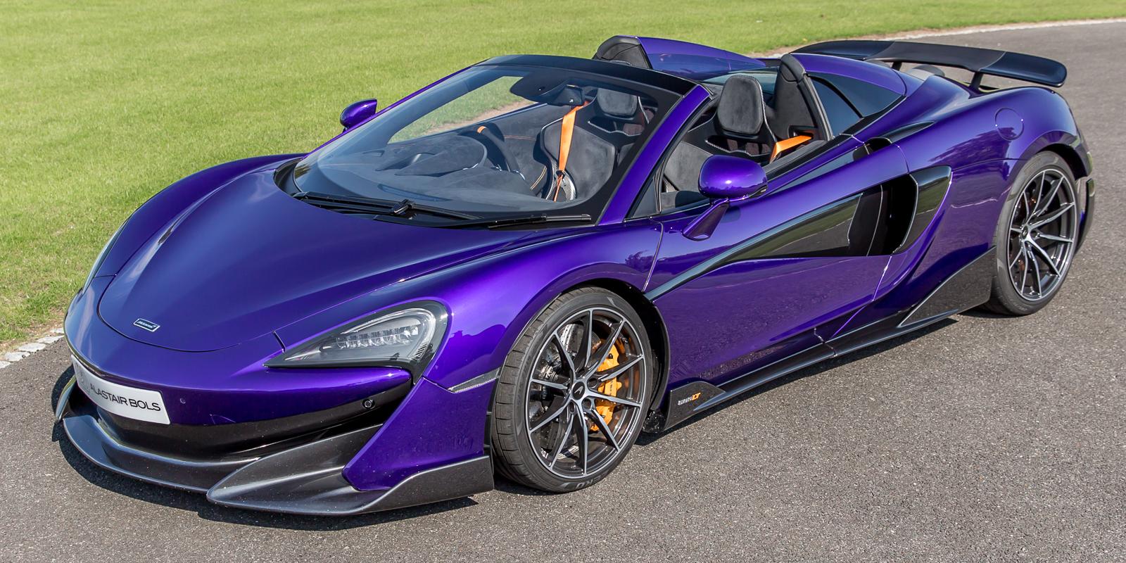 McLaren 600LT Spider in MSO Lantana Purple